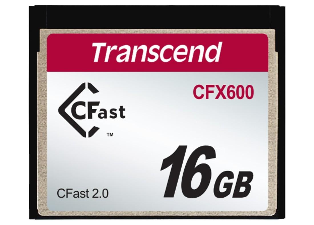 Картка пам'яті Transcend CFX600 16ГБ CFast 2.0 600X MLC Промислового класу (TS16GCFX600)