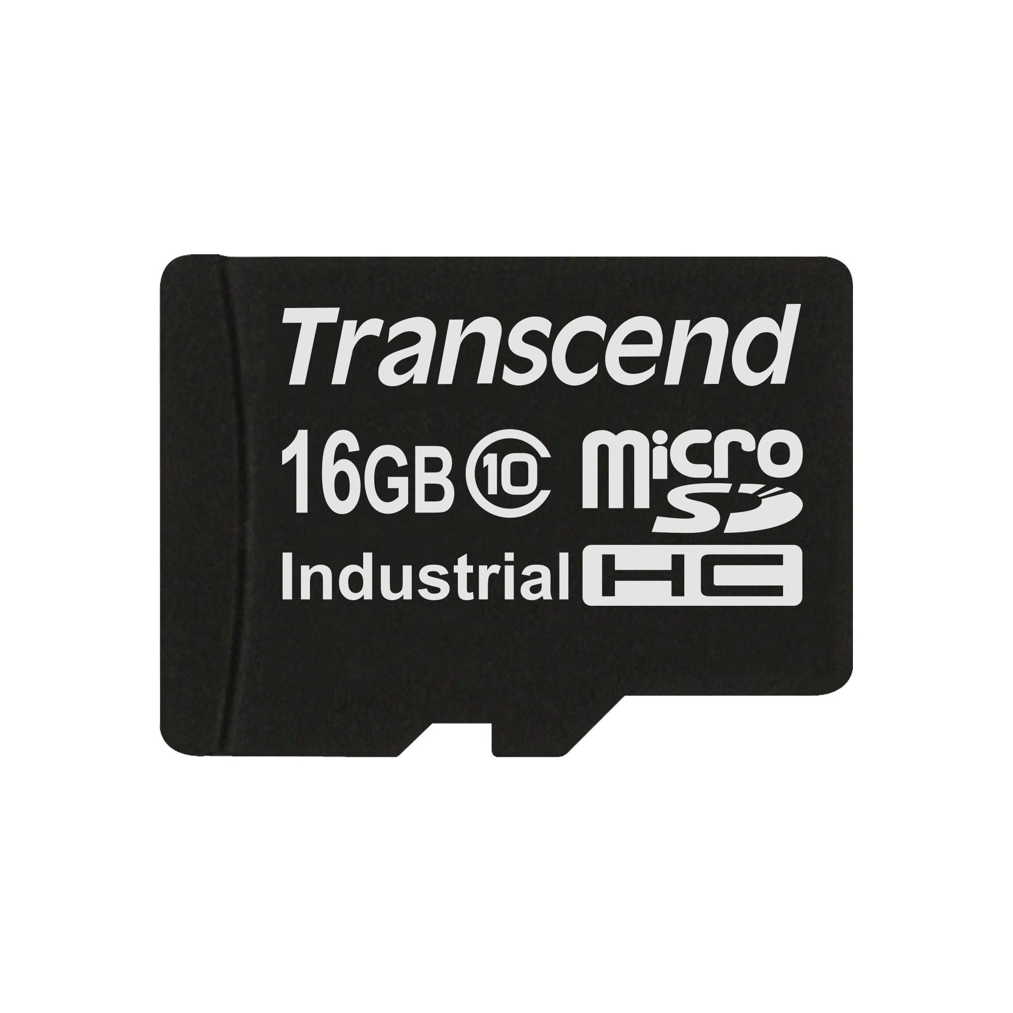 Картка пам'яті Transcend 16ГБ microSDHC Class 10 21МБ/с 15МБ/с MLC Промислового класу з широким діапазоном робочих температур (TS16GUSDC10I)