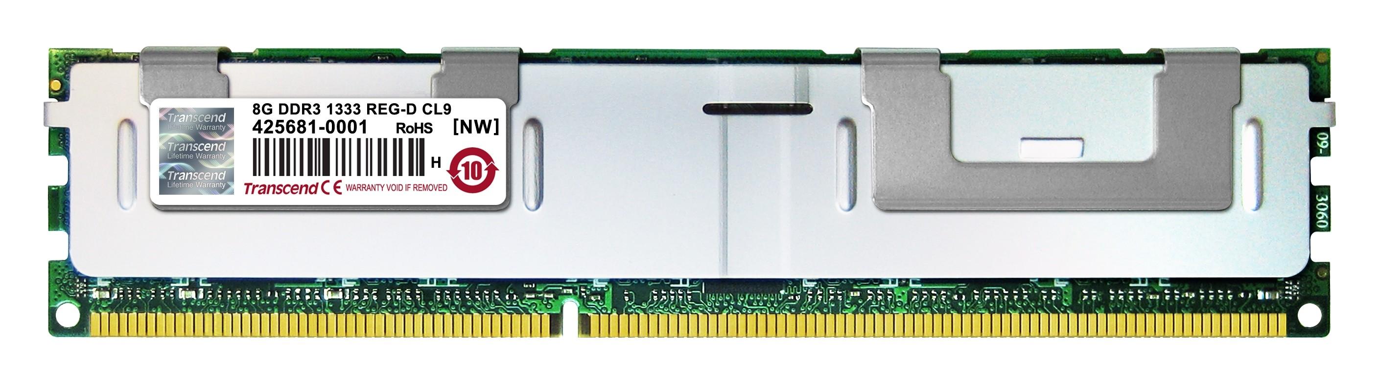 Оперативна пам'ять DDR3 ECC RDIMM 8GB (TS1GKR72V3N)