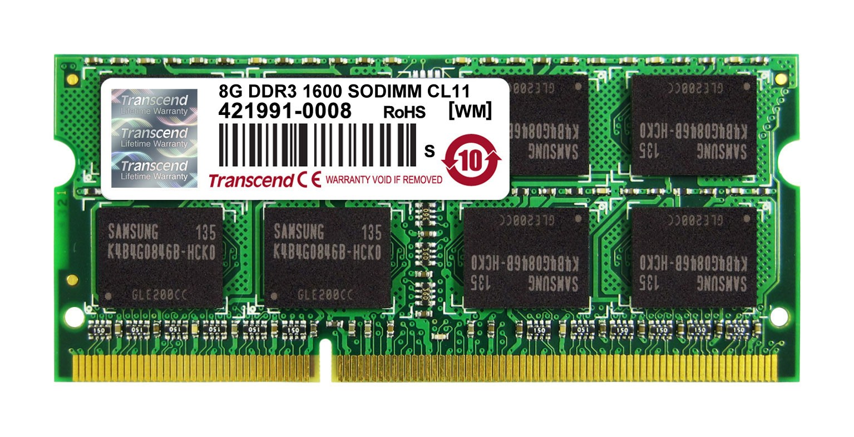 Оперативна пам'ять DDR3 SODIMM 8GB 1600MHz (TS1GSK64V6H)
