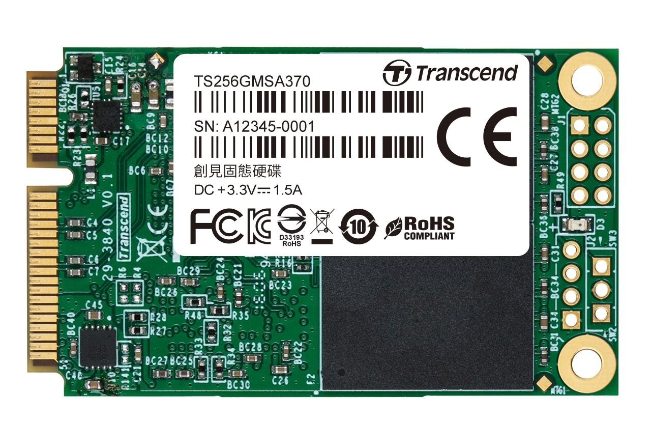 SSD накопичувач Transcend® MSA370 256ГБ mSATA MLC Промислового класу (TS256GMSA370)