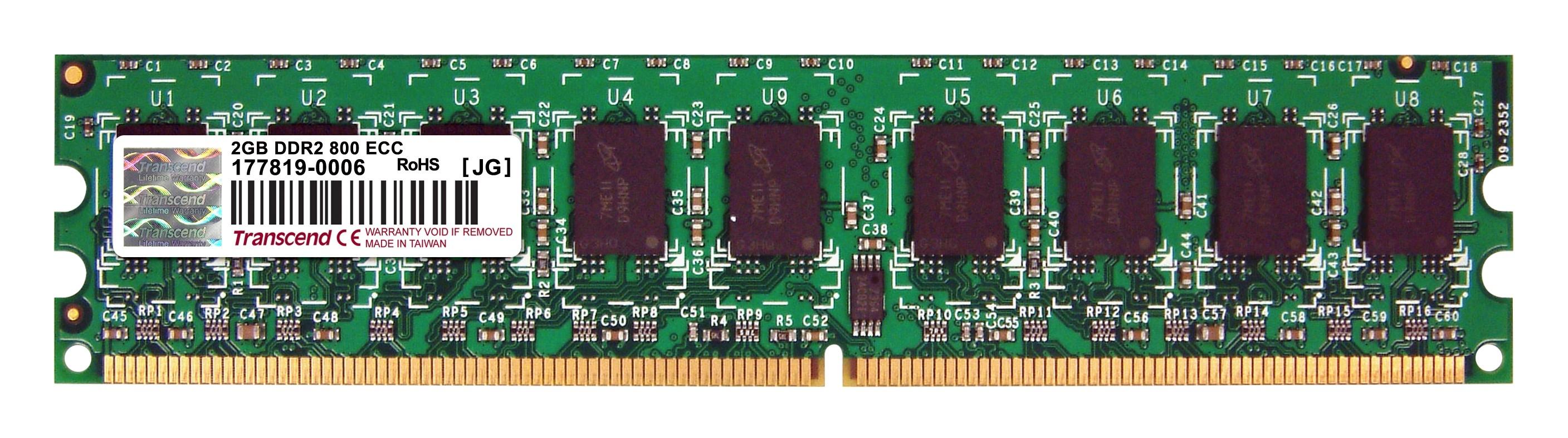 Оперативна пам'ять DDR2 DIMM 2GB (TS256MLQ72V8U)