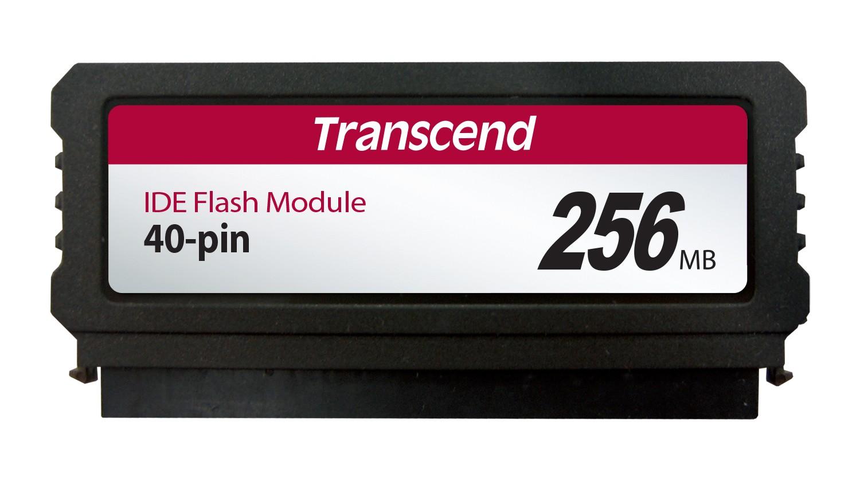 Модуль флеш-пам'яті (вертикальний) Transcend 256МБ IDE 40PIN SLC з SMI Промислового класу (TS256MPTM520)