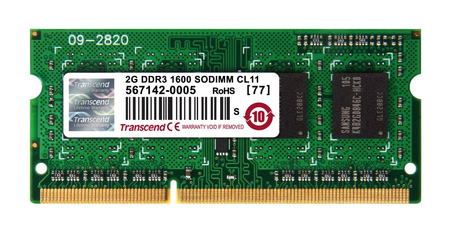 Оперативна пам'ять DDR3 SODIMM 2GB 1600MHz (TS256MSK64V6N)
