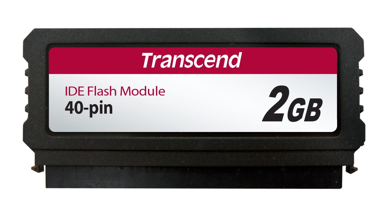 Модуль флеш-пам'яті (вертикальний) Transcend 2ГБ IDE 40PIN SLC з SMI Промислового класу (TS2GPTM520)