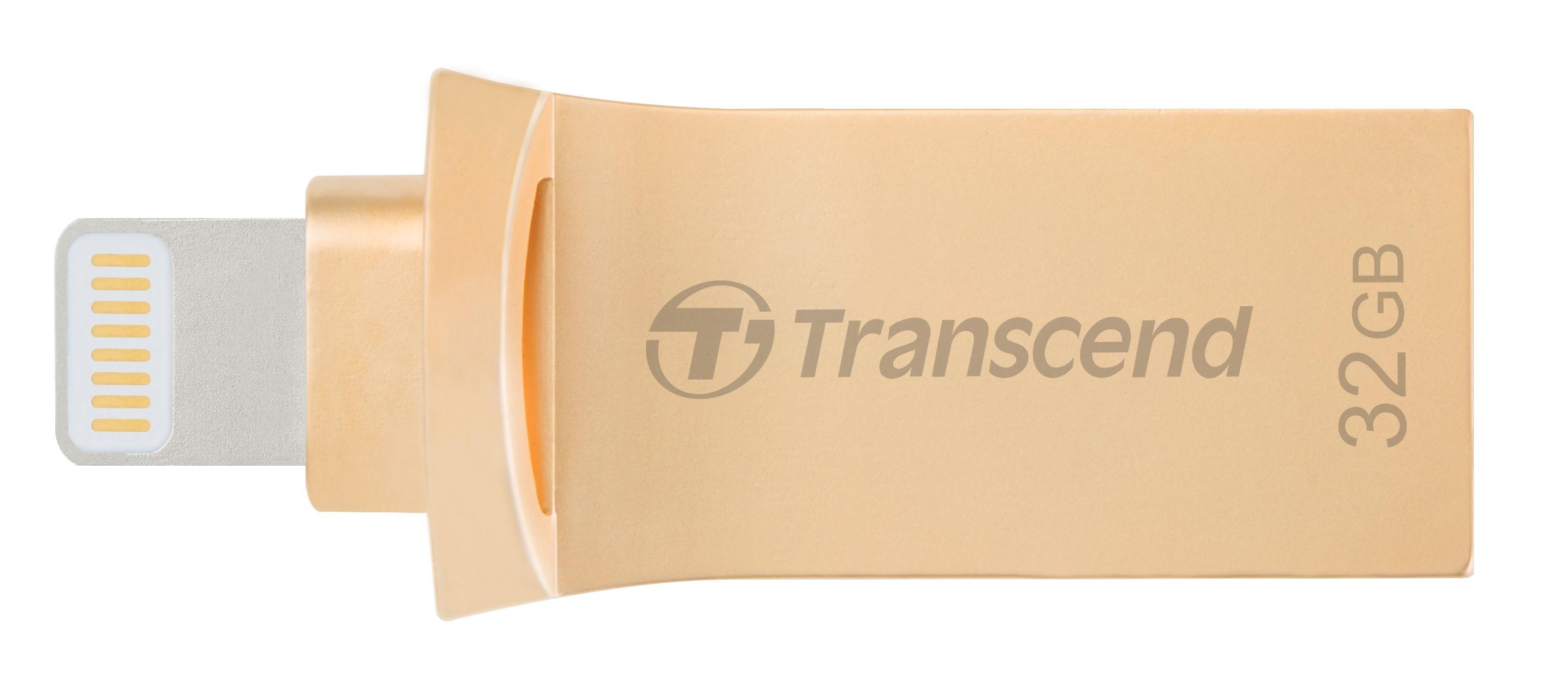 Флеш-накопичувач Transcend 32GB Lightning/USB 3.1 JetDrive Go 500 Gold (TS32GJDG500G)