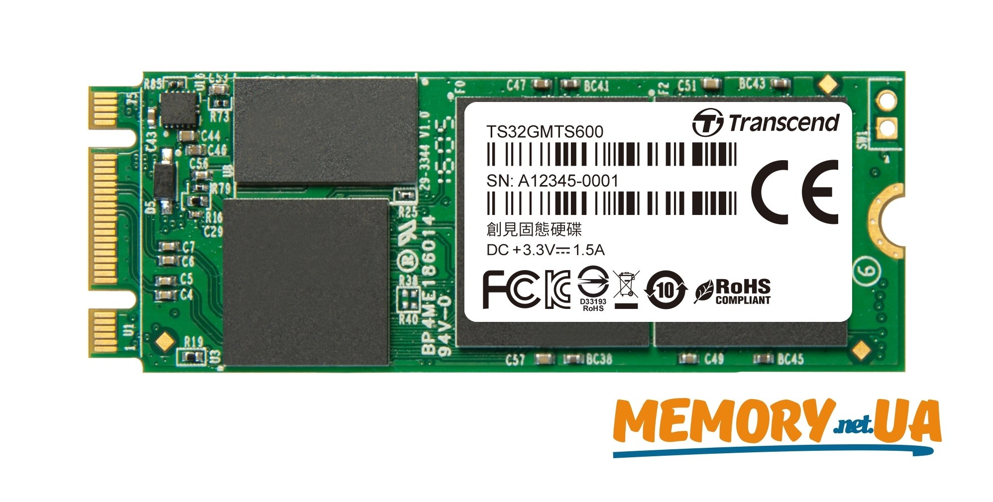 Transcend 32GB SSD M.2 2260 MTS600 MLC