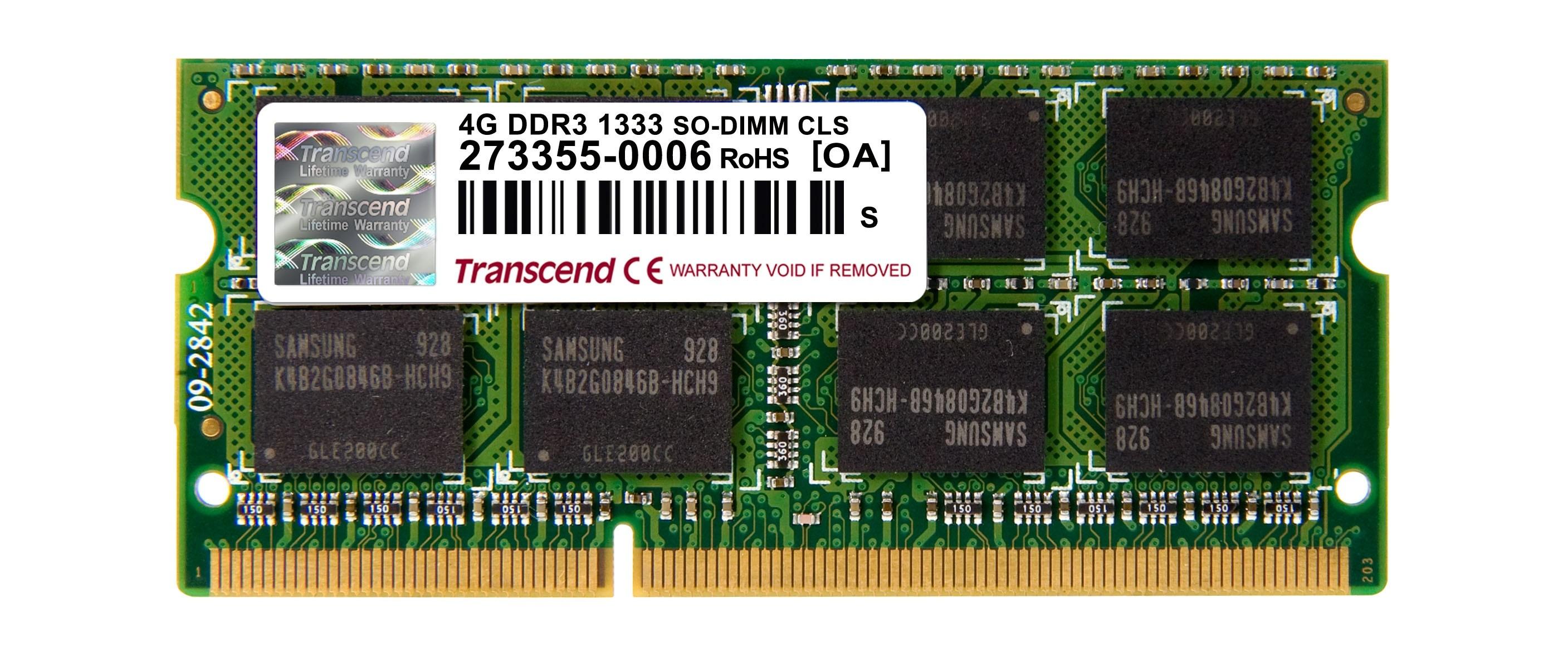 Оперативна пам'ять DDR3 SODIMM 4GB 1333MHz (TS4GAP1333S)