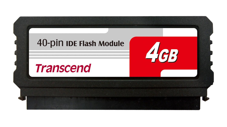 Модуль флеш-пам'яті (вертикальний) Transcend 4GB IDE 40PIN Vertical with SMI (TS4GDOM40V-S)