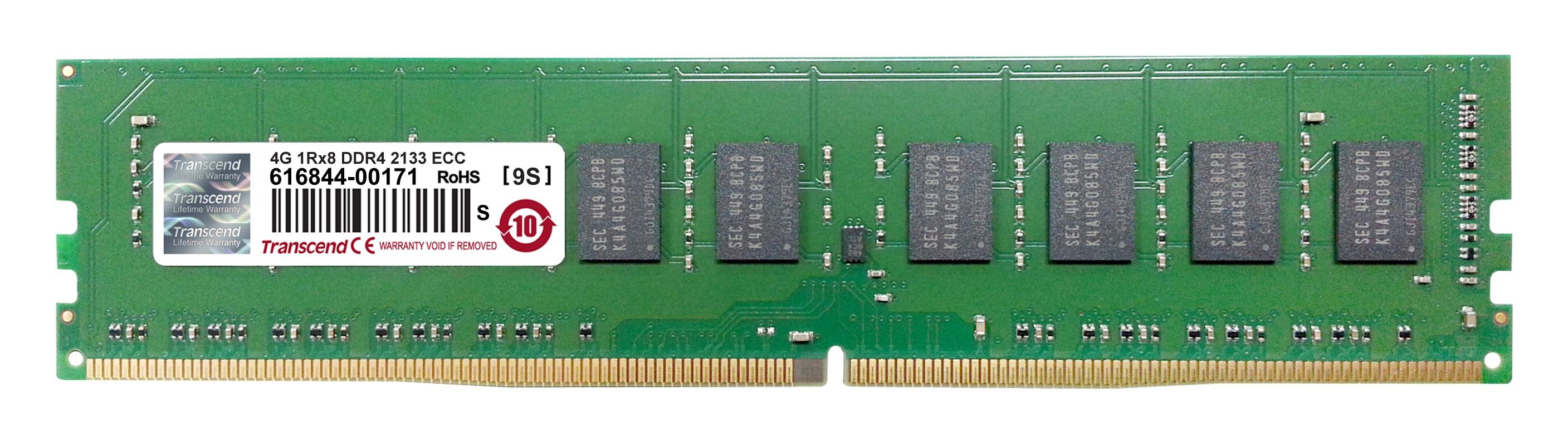 Оперативна пам'ять DDR4 ECC UDIMM 4GB 2133MHz (TS512MLH72V1H)