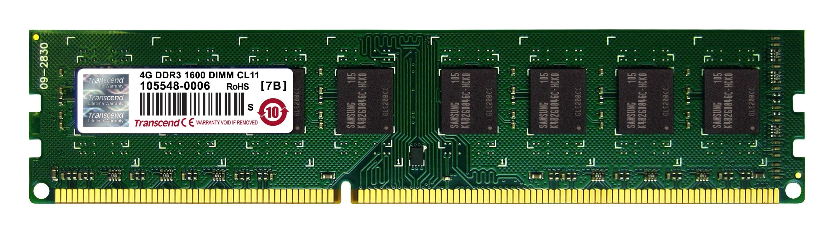 Оперативна пам'ять DDR3 DIMM 4GB 1600Hz (TS512MLK64V6N)