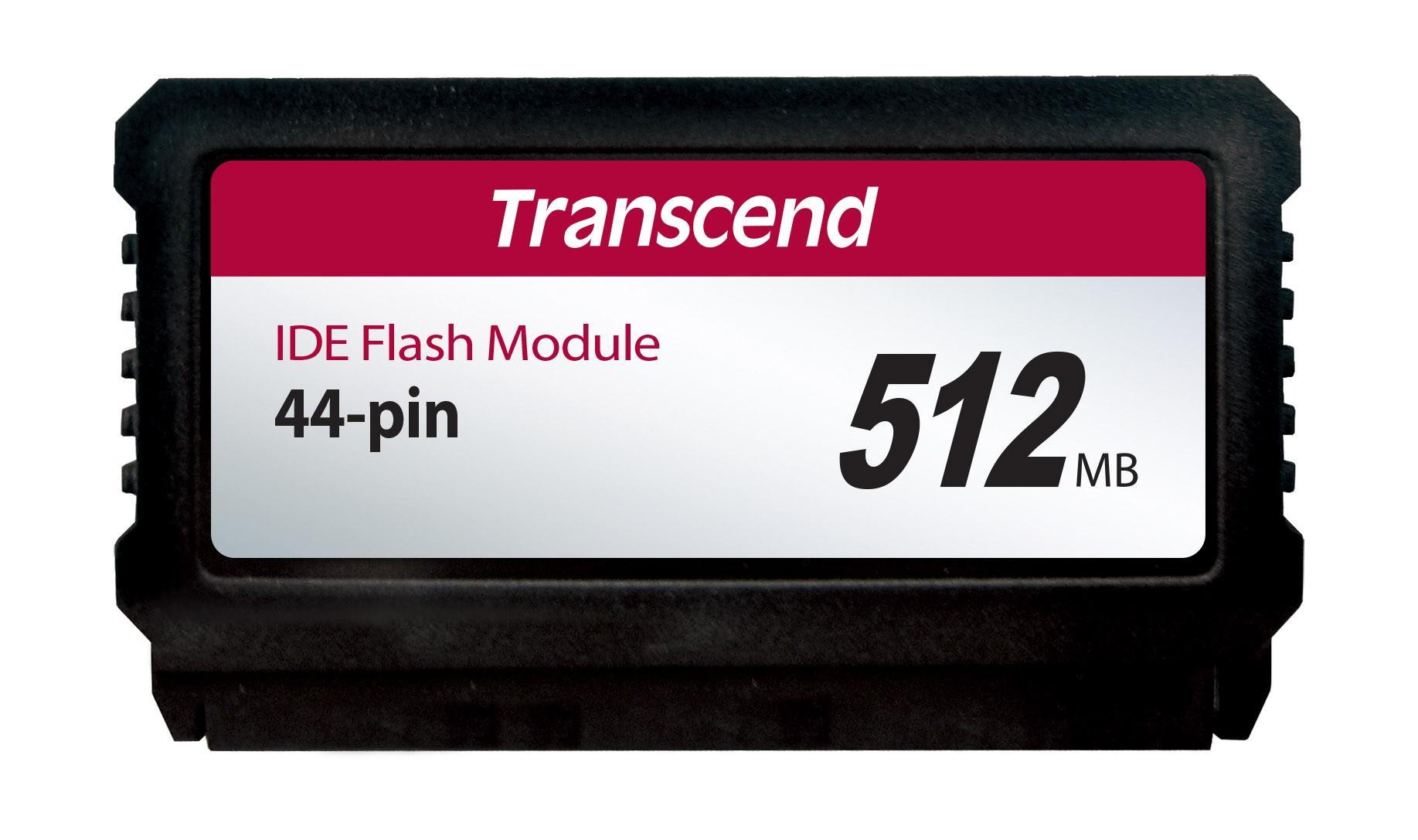 Модуль флеш-пам'яті (вертикальний) Transcend 512МБ IDE 44PIN SLC з SMI Промислового класу (TS512MPTM720)