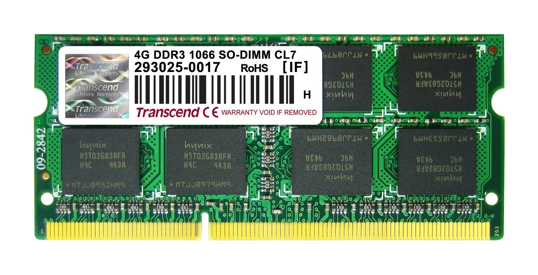 Оперативна пам'ять DDR3 SODIMM 4GB 1066MHz (TS4GAP1066S)