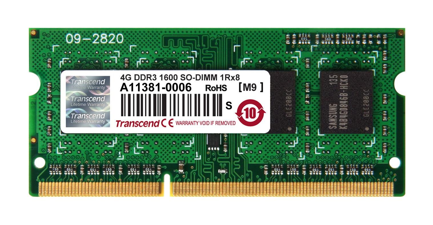 Оперативна пам'ять DDR3 SODIMM 4GB 1600MHz (TS512MSK64V6H)