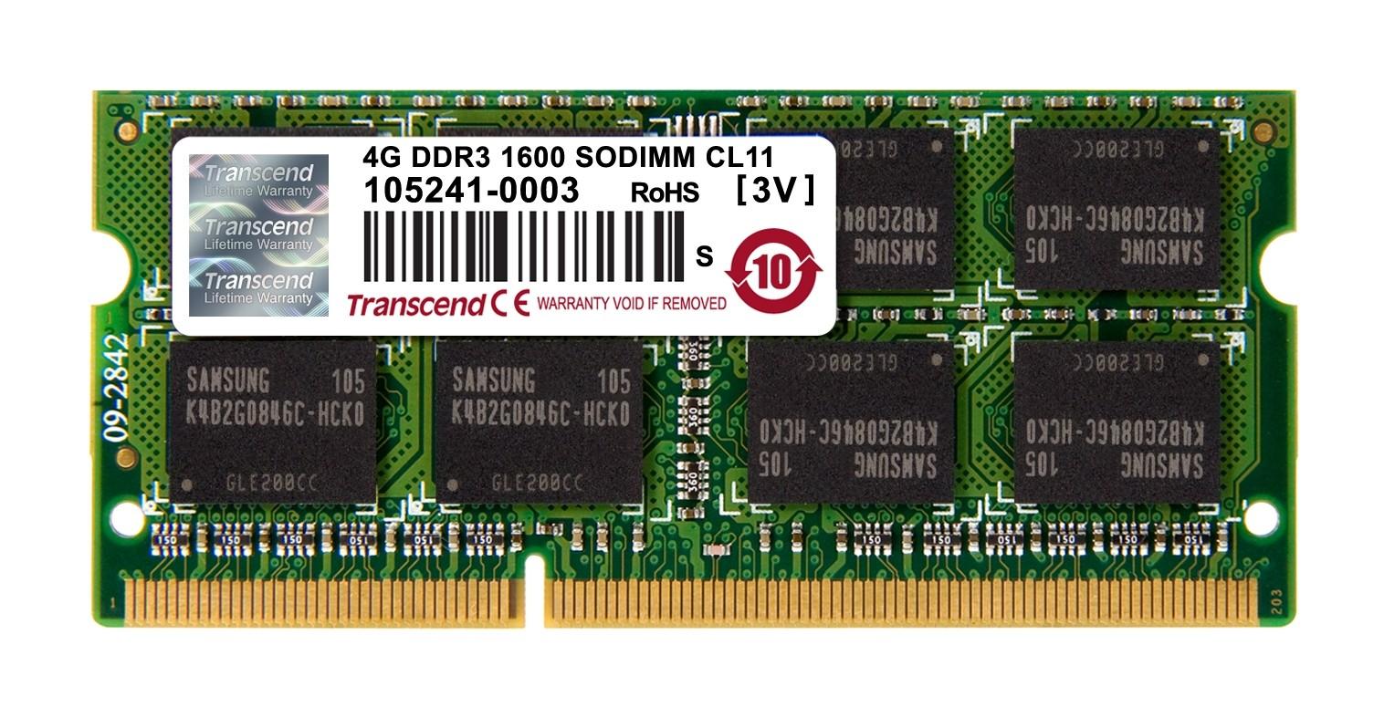 DDR3 SODIMM 4GB 1600MHz (TS512MSK64V6N)