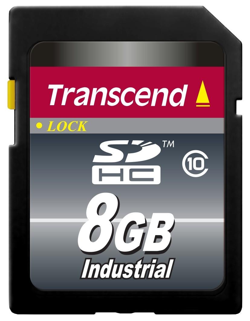 Картка пам'яті Transcend 8ГБ SDHC Class 10 22МБ/с 18МБ/с MLC Промислового класу з широким діапазоном робочих температур (TS8GSDHC10I)