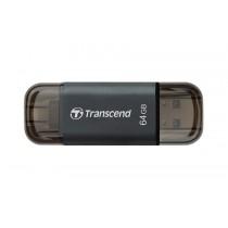 Флеш-накопичувач Transcend 64GB Go 300 USB/Lightning Black (TS64GJDG300K)