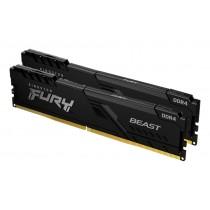 Оперативна пам'ять Kingston FURY Beast 16ГБ DDR4 3733МГц CL19 1Rx8 DIMM Чорна - KF437C19BBK2/16