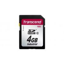 Картка пам'яті Transcend SDHC100I 4ГБ 100X Class 10 SLC Промислового класу з широким діапазоном робочих температур (TS4GSDHC100I)