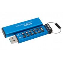 Захищений флеш накопичувач з апаратним шифруванням Kingston DataTraveler 2000 128GB (DT2000/128GB)
