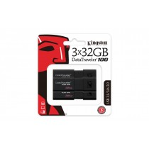 USB флеш накопичувач 32GB Kingston DataTraveler 100 G3 DT100G3/32GB-3P