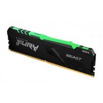 16GB 2666MHz Kingston FURY Beast RGB оперативна пам'ять DDR4  DIMM (KF426C16BB1A/16)