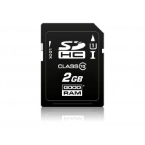 Картка пам'яті SD GOODRAM 2ГБ pSLC 0°C~70°C (SDC2GCPGRB)
