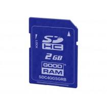 Картка пам'яті SD GOODRAM 2ГБ SLC -25°C~85°C (SDC2GGSGRB)
