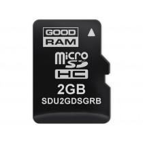 Картка пам'яті microSD GOODRAM 2ГБ SLC -40°C~85°C (SDU2GDSGRB)