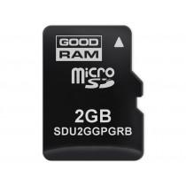 Картка пам'яті microSD GOODRAM 2ГБ pSLC -25°C~85°C (SDU2GGPGRB)
