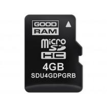 Картка пам'яті microSD GOODRAM 4ГБ pSLC -40°C~85°C (SDU4GDPGRB)