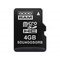 Картка пам'яті microSD GOODRAM 4ГБ SLC -25°C~85°C (SDU4GGSGRB)