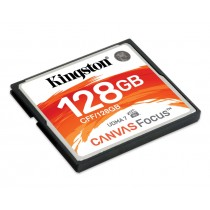 Картка пам'яті Kingston 128GB CompactFlash Canvas Focus up to 150R/130W UDMA7 VPG-65 (CFF/128GB)