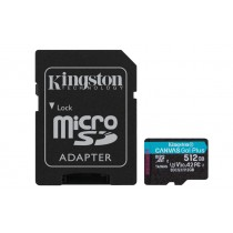 Картка пам'яті microSDXC Kingston Canvas Go! Plus 512ГБ + SD Адаптер (SDCG3/512GB)