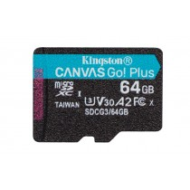 Картка пам'яті microSDXC Kingston Canvas Go! Plus 64ГБ без SD Адаптера (SDCG3/64GBSP)