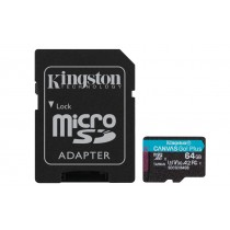 Картка пам'яті microSDXC Kingston Canvas Go! Plus 64ГБ + SD Адаптер (SDCG3/64GB)