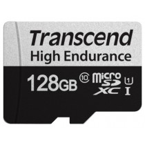 Картка пам'яті Transcend GUSD350V 128GB microSD w/adapter U1, High Endurance (TS128GUSD350V)