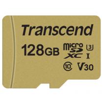 Картка пам'яті Transcend GUSD500S 128GB UHS-I U3 microSD with Adapter (TS128GUSD500S)