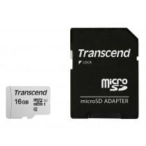 Картка пам'яті microSD Transcend 300S 16ГБ (TS16GUSD300S-A)