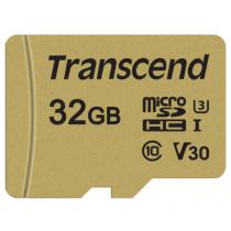 Картка пам'яті Transcend GUSD500S 32GB UHS-I U3 microSD with Adapter (TS32GUSD500S)