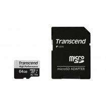 Картка пам'яті microSDXC Transcend 330S 64ГБ 100МБ/с 60МБ/с 3D TLC NAND UHS-I U3 (TS64GUSD330S)