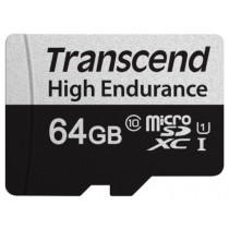 Картка пам'яті Transcend GUSD350V 64GB microSD w/adapter U1, High Endurance (TS64GUSD350V)