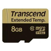Картка пам'яті Transcend 8GB microSDHC Class 10 24МБ/с 16МБ/с MLC Промислового класу (TS8GUSD520I)