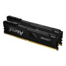16GB 2666MHz Kingston FURY Beast Black оперативна пам'ять DDR4  DIMM (KF426C16BBK2/16)