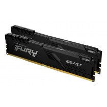 Оперативна пам'ять Kingston FURY Beast 16ГБ DDR4 3200МГц CL16 1Rx8 DIMM Чорна - KF432C16BBK2/16