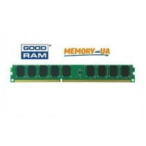 Модуль пам'яті GoodRAM 4ГБ 1333МГц DDR3 ECC Небуферизований UDIMM Низьковольтний Низькопрофільний 2Rx8