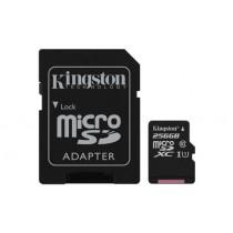 Картка пам'яті Kingston 256ГБ microSDHC Canvas Select 80R CL10 UHS-I Картка з адаптером (SDCS/256GB)