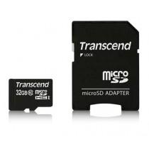 Картка пам'яті Transcend 64GB microSDHC C10 + SD адаптер (TS64GUSDXC10)