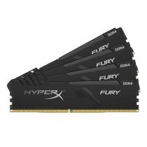 Комплект модулів оперативної пам'яті для ПК Kingston HyperX FURY 128ГБ (Комплект 4x32ГБ) DDR4 2666МГц CL16 DIMM Чорний (HX426C16FB3K4/128)