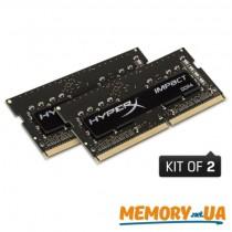 HyperX Impact Оперативна пам'ять 8GB DDR4−2400MHz SO-DIMM (HX424S14IBK2/8)